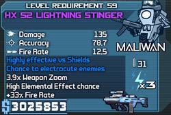 HX 52 Lightning Stinger OBY