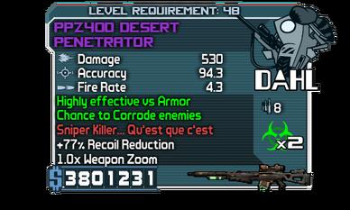 PPZ40D Desert Penetrator