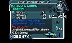 HX 200 C Cobalt Tsunami