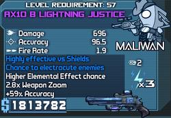 AX10 B Lightning Justice OBY