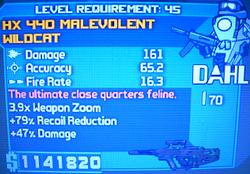HX 440 Malevolent Wildcat