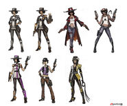Borderlands2 character boss the sheriff sketches 2 by matias tapia