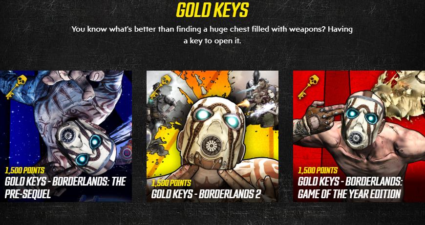 Лоты Золотых Ключей