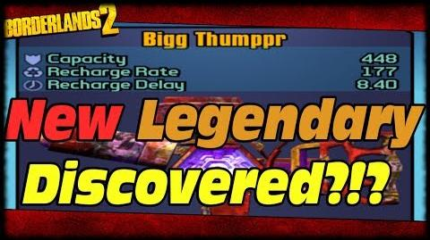 Borderlands 2 New Big Thumper Legendary Roid Shield Discovered In Loot The World App Bigg Thumppr