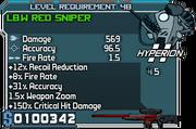 Lb w red sniper 48