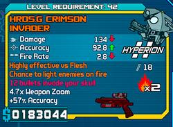 HRD5D Crimson Invader
