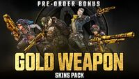 BL3 Gold Weapon Skin DLC