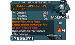 KKA500 Combustion HellFire 324