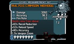 Fry RWL70.G Crimson Nidhogg