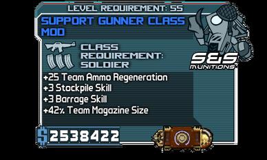 Support Gunner Class Mod .2 Material