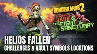 Borderlands 2 Commander Lilith DLC - HELIOS FALLEN - All Challenges & Vault Symbols Locations