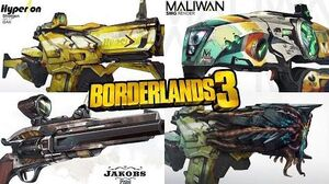 Borderlands 3 Concept Art - Weapons