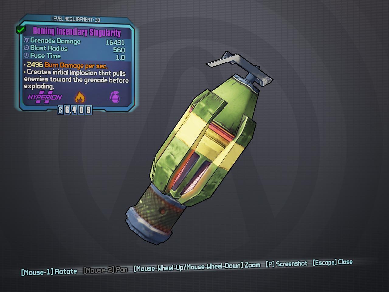 Singularity Grenade | Borderlands Wiki | FANDOM powered by Wikia