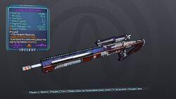Streamlined Sniper Rifle 70D Purple Fire