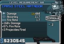 ZPR50 Steel Matador happypal