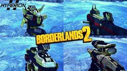 Borderlands 2 - Epic Hyperion Weapons - Animations & Sounds w Slow Motion