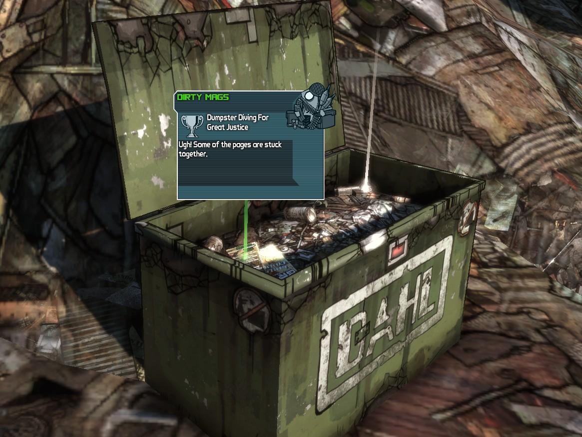 Dumpster Diving For Great Justice | Borderlands Wiki ...