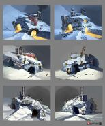 Borderlands2 environment building claptrap igloo 02 by matias tapia