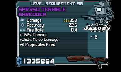 SPR350 Terrible Shredder