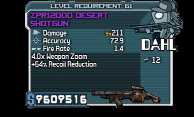 ZPR1200D Desert Shotgun
