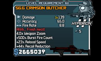 SG.G Crimson Butcher