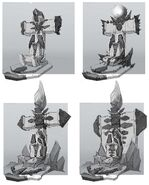 Borderlands2 tiny tinas assault on dragon keep - prop throne chairs layout by kevin duc