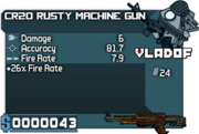 CR20 Rusty Machine Gun