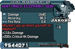 Whitting's Elephant Gun happypal