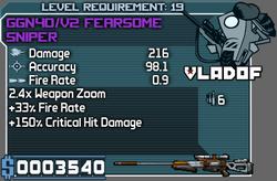Vladof GGN40 V2 Fearsome Sniper