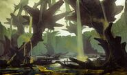 Borderlands2 sir hammerlocks big game hunt - environment scenery underground forest by kevin duc