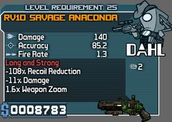 RV10 Savage Anaconda