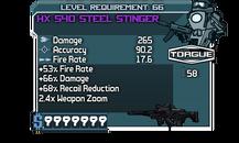 HX 540 Steel Stinger vector