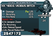 Cheater hx 400-g vicious bitch 48