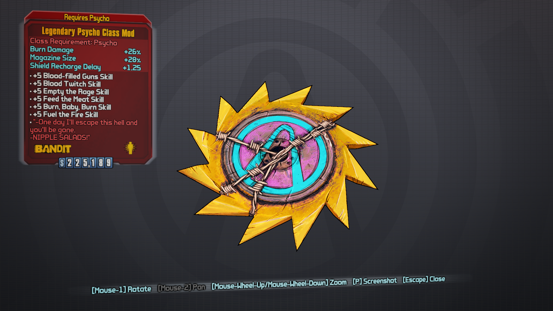 bl2 legendary sickle