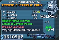 ZPR630 C Vitriolic Crux OBY