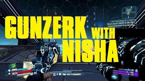 """""""Gunzerking Nisha"""" Exploit Dual Wield Different Guns Borderlands The Pre-Sequel!"""