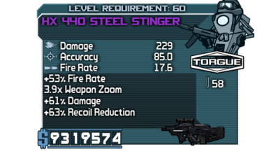 Fast Steel Stinger Armory run