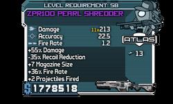 Zpr100 pearl shredder