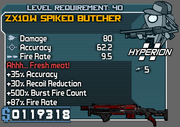 Spiked butcher 40