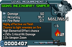 GGN5 Incendiary Sniper