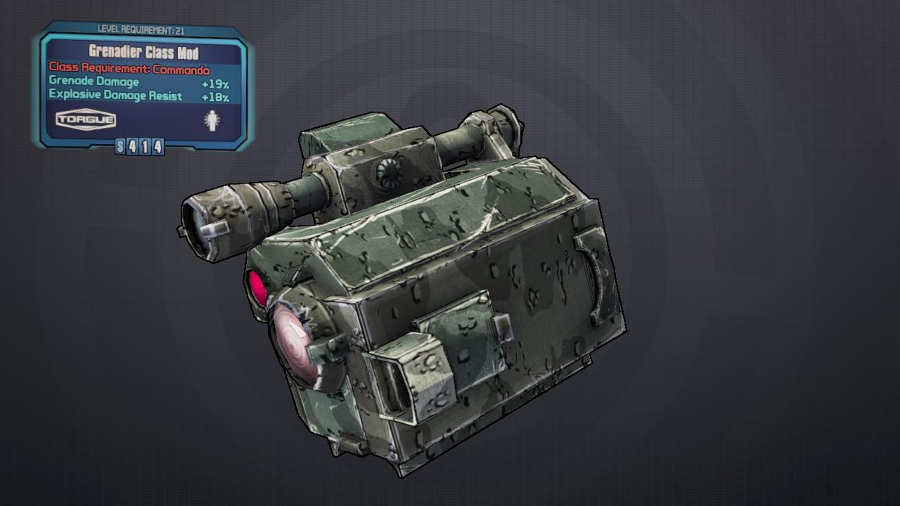Grenadier (class mod) | Borderlands Wiki | FANDOM powered by