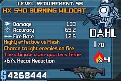 HX 540 Burning Wildcat OBY