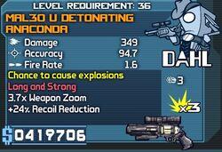MAL30 u detonating anaconda