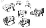 Borderlands2 weapon maliwan smg sketches 01 by kevin duc