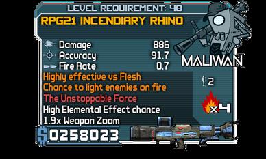 RPG21 Incendiary Rhino