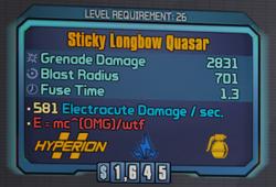 Stickylongbowquasar