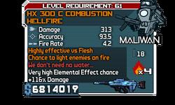 HX 300 C Combustion HellFire