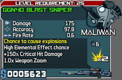 Maliwan GGN40 Blast Sniper