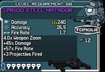 ZPR100 Steel Matador happypal