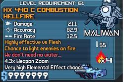 HX 440 C Combustion Hellfire